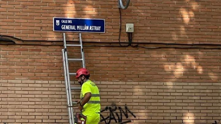 Millán Astray regresa al callejero de Madrid entre críticas de Más Madrid y Podemos