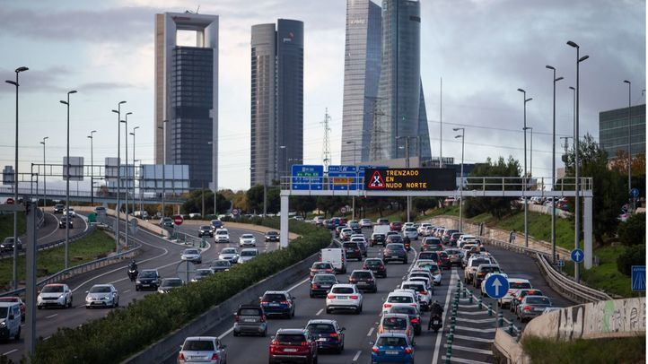 Atasco en la entrada a Madrid