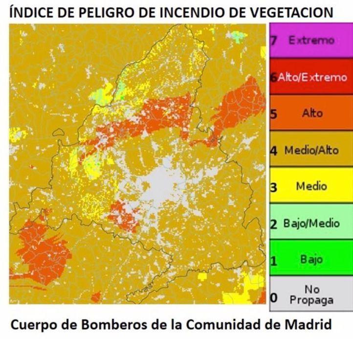 El riesgo de incendios forestales sube y ya es extremo en varios puntos de la región