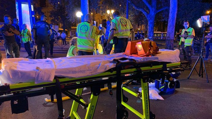 Muy grave tras ser atropellado en la plaza de Cibeles