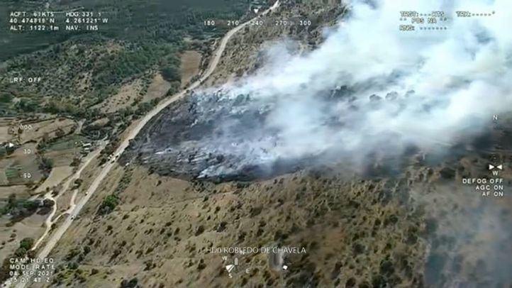 Controlado en 70 minutos un incendio forestal en Robledo de Chavela