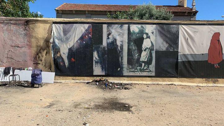 El mural homenaje a Robert Capa se incendió de manera accidental