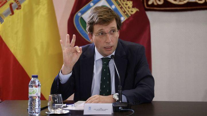 José Luis Martínez-Almeida en la rueda de prensa posterior a la Junta de Gobierno.