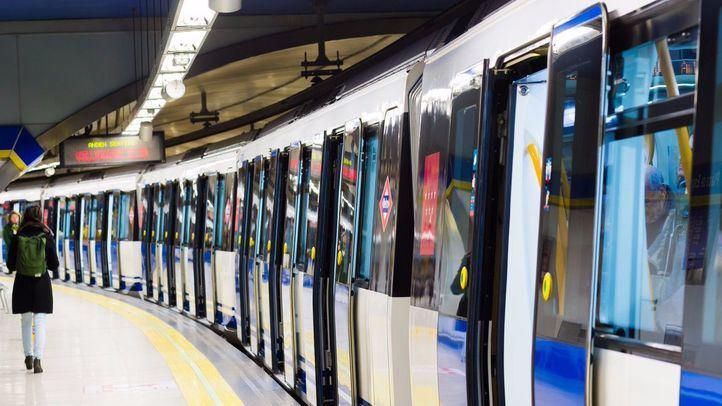 Refuerzo de trenes de Metro por el partido en el Santiago Bernabéu