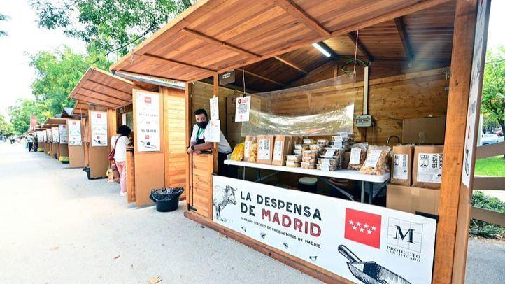 El mercado itinerante 'La Despensa de Madrid' llega al Paseo de Recoletos