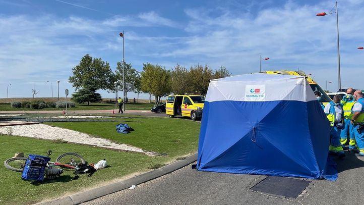 Muere un ciclista en un accidente en Parla