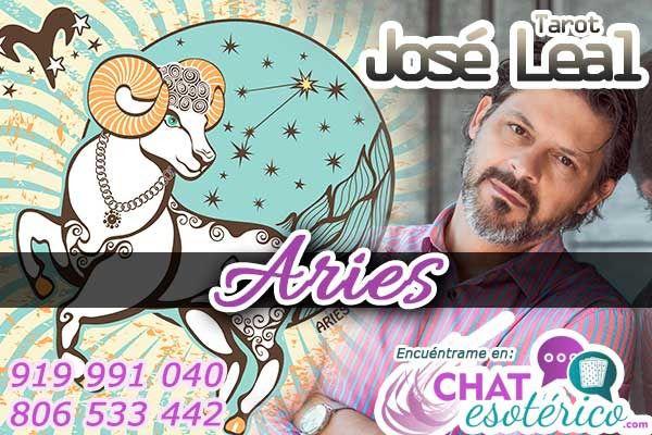 En el chat de tarotistas casi gratis, te encontrarás con José Leal: Aries, todo marchará bien en tu vida amorosa