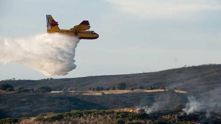 Incendio forestal en Campo Real