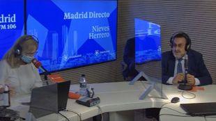 Nieves Herrero y Miguel Carballeda en el estudio de Onda Madrid