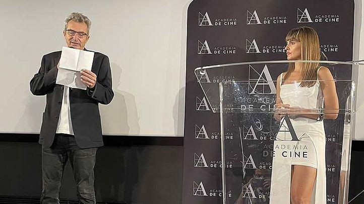 Mariano Barroso y Verónica Echegui, en el acto