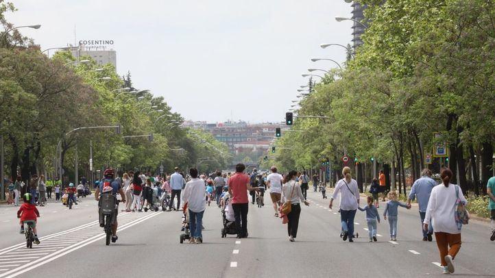 La Castellana peatonalizada