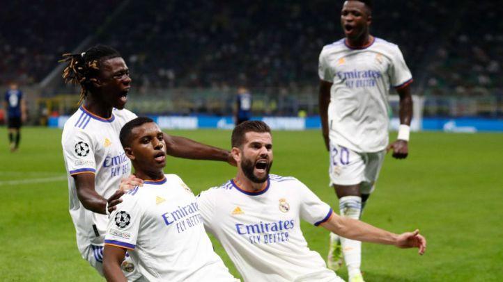Rodrygo celebra su gol.