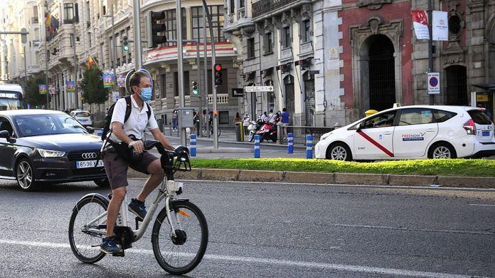 Bicicletas eléctricas en Madrid.