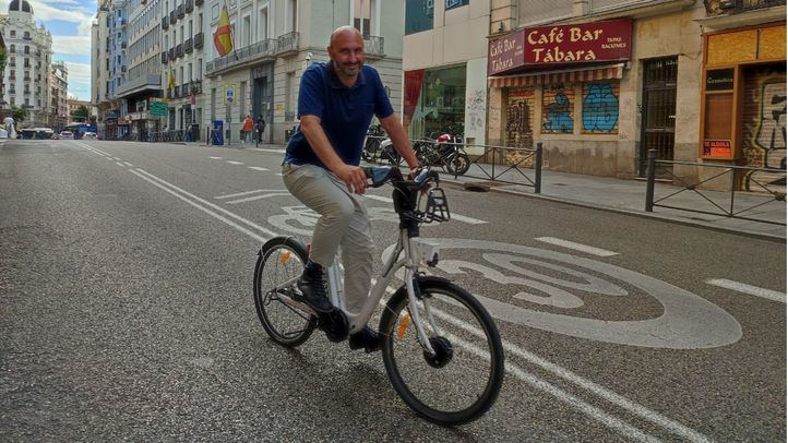 El alcalde de la bicicleta en Madrid, Fernando García