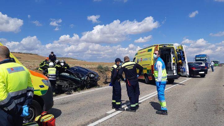 Una colisión frontal en Daganzo de Arriba deja un muerto y un herido