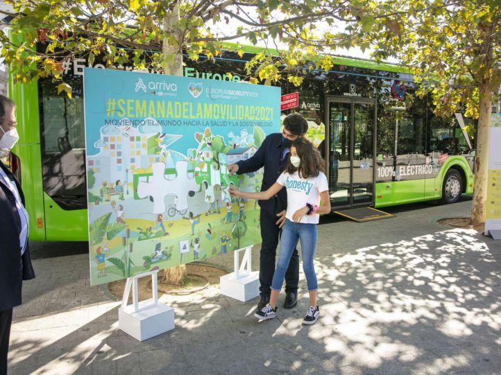 Autobuses con placas solares, híbridos o eléctricos en la Semana Europea de la Movilidad
