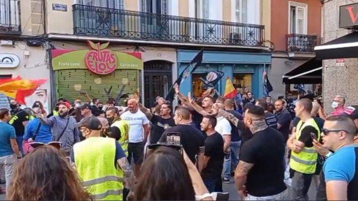 Un detenido en la marcha neonazi de Chueca