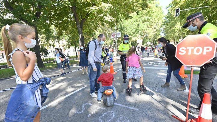 El Paseo de la Castellana acoge diversas actividades con motivo de la Semana Europea de la Movilidad