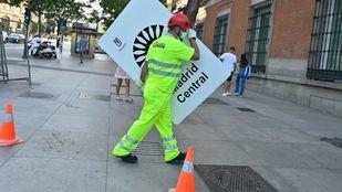 Comienza la retirada de la señalética de Madrid Central