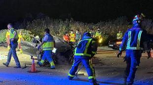 Muere tras estrellar frontalmente su turismo en una rotonda en San Martín de la Vega