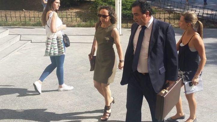 Noelia de Mingo entrando a los juzgados de Plaza Castilla en 2017 (imagen de archivo)
