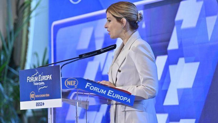 La portavoz del PSOE en la Asamblea, Hana Jalloul, protagoniza el desayuno informativo de Forum Europa