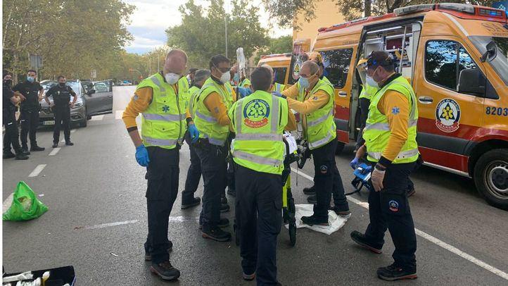 Herido grave un hombre tras ser atropellado por un vehículo en San Blas
