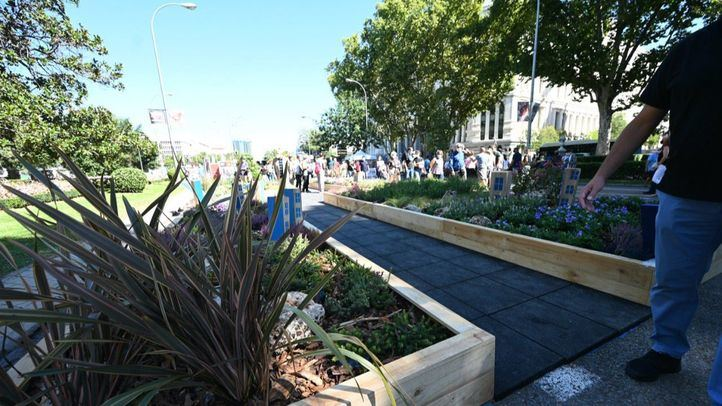 Jardín efímero de Valoriza en la Semana de la Movilidad