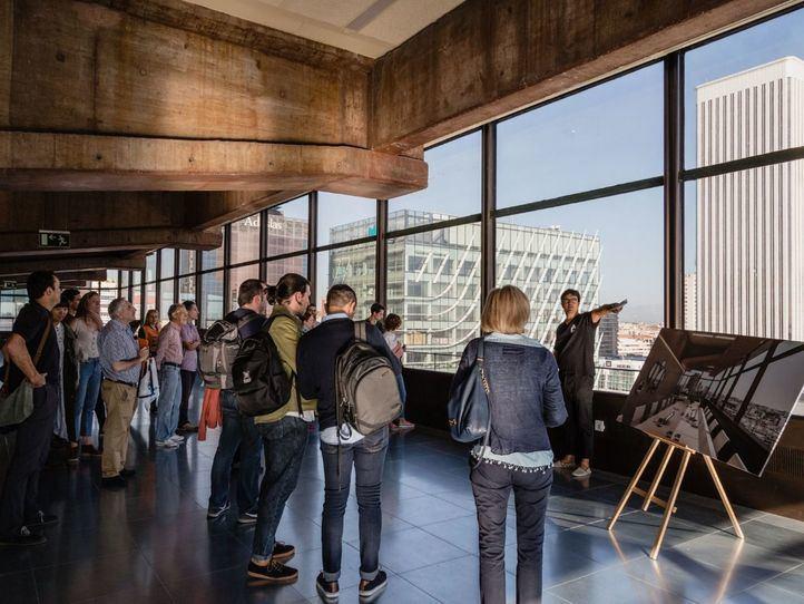 Una de las visitas de la Semana de la Arquitectura de otras ediciones anteriores.