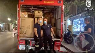 Bomberos de Madrid se suman a las ayudas para La Palma