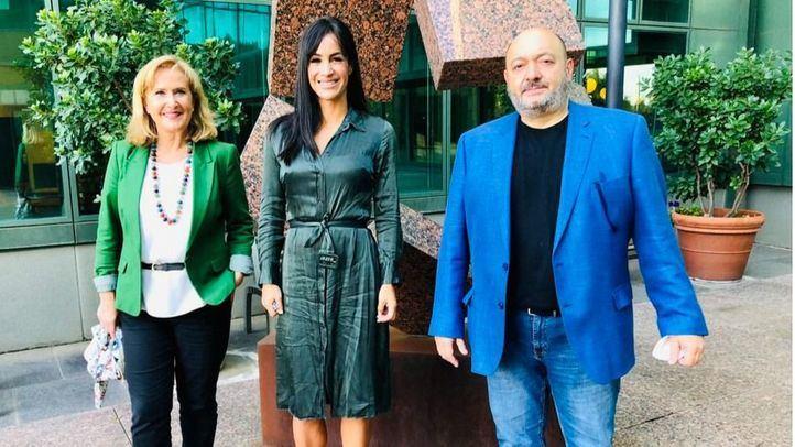 Nieves Herrero, Begoña Villacís y Constantino Mediavilla en Telemadrid
