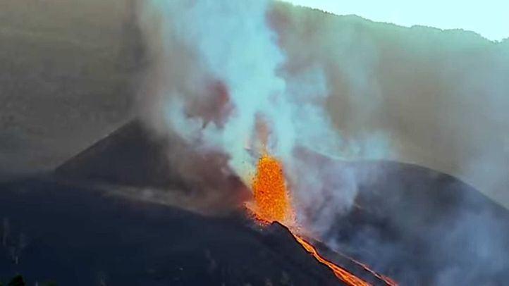 El volcán de Cumbre Vieja, en la isla canaria de La Palma