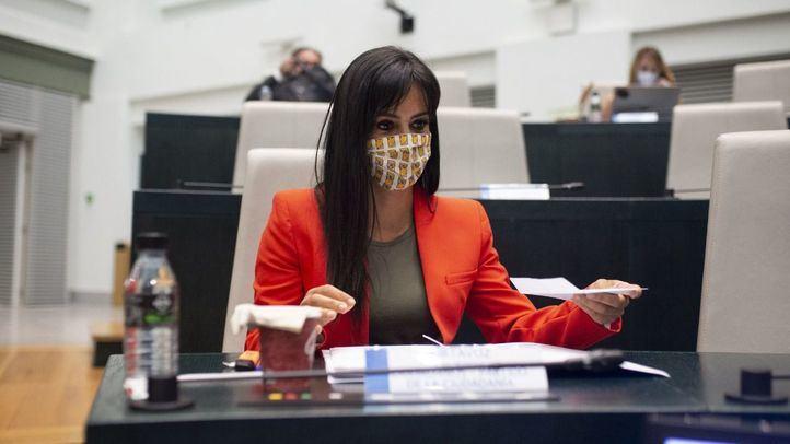 La vicealcaldesa, Begoña Villacís, en una foto de archivo de un Pleno de Cibeles.