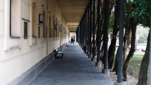 Soportales del patio grande de la Universidad Carlos III de Getafe