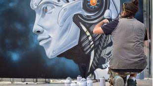 Batalla de graffiti en San Blas-Canillejas