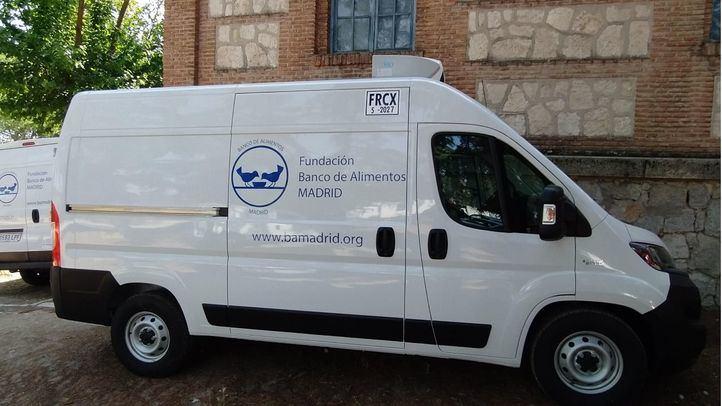 Nuevo furgón refrigerado del Banco de Alimentos de Madrid, financiado por BBVA Asset Management.