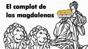 El complot de las magdalenas de Luis Cueto. Novela urbana por entregas
