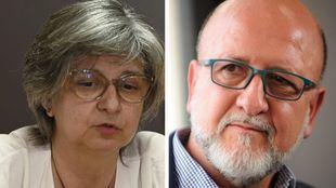 Los secretarios generales de CCOO y UGT en Madrid, Paloma López y Luis Miguel López Reillo