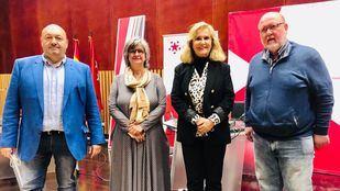 Paloma López y Luis Miguel López Reíllo junto a Constantino Mediavilla y Nieves Herrero en Onda Madrid