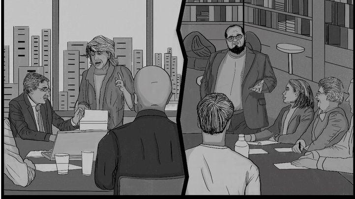 En la sala del grupo popular de la calle Mayor, el equipo de colaboradores más cercano de Paloma Larrañaga prepara el debate del Estado de la Ciudad ...