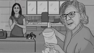 La alcaldesa estaba regando las plantas de su despacho cuando apareció por la puerta la concejala jovencita, esbelta y de pelo lacio que ya conocemos