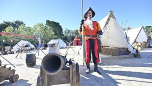 Recreación de un campamento de soldados reclutados para la batalla de Lepanto