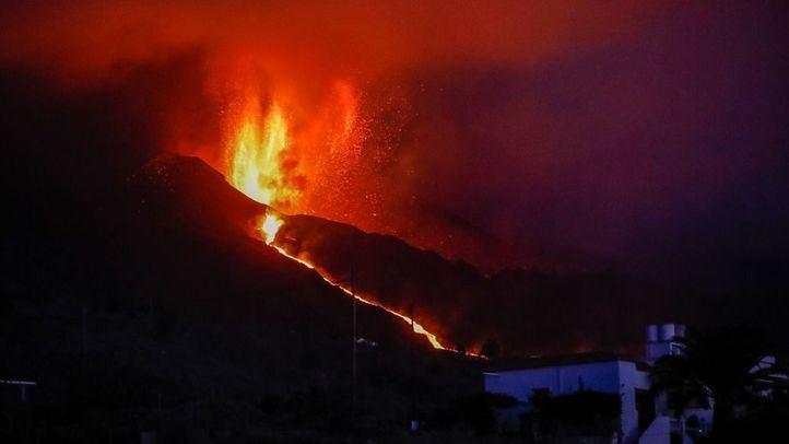Volcán de La Palma: el cono sufre un derrumbe parcial