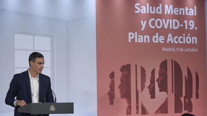 El presidente del Gobierno, Pedro Sánchez, anuncia que el Gobierno pondrá en marcha un plan de Salud Mental