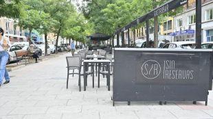 Terraza Covid en calle Ibiza