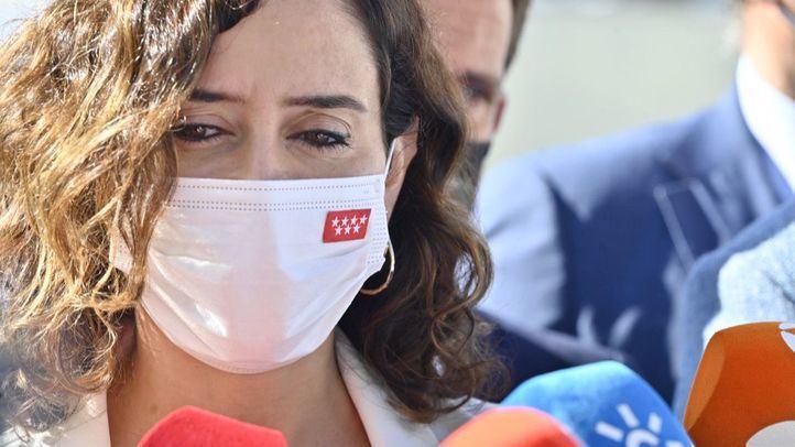 La presidenta de la Comunidad de Madrid, Isabel Díaz Ayuso, durante las jornadas de Periodismo 2030