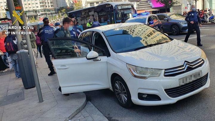Detenido tras robar un coche en Talavera de la Reina y protagonizar una persecución hasta Gran Vía