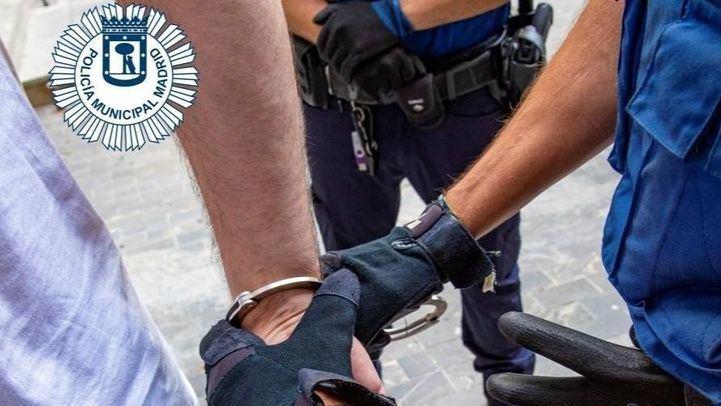 Detención por parte de la Policía Municipal de Madrid