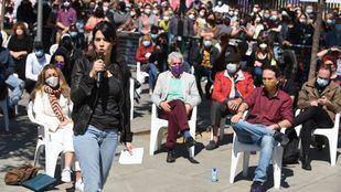 La exportavoz de Podemos en la Asamblea de Madrid, Isa Serra en un acto electoral.