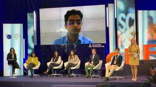 Uno de los momentos en el Global Education Forum